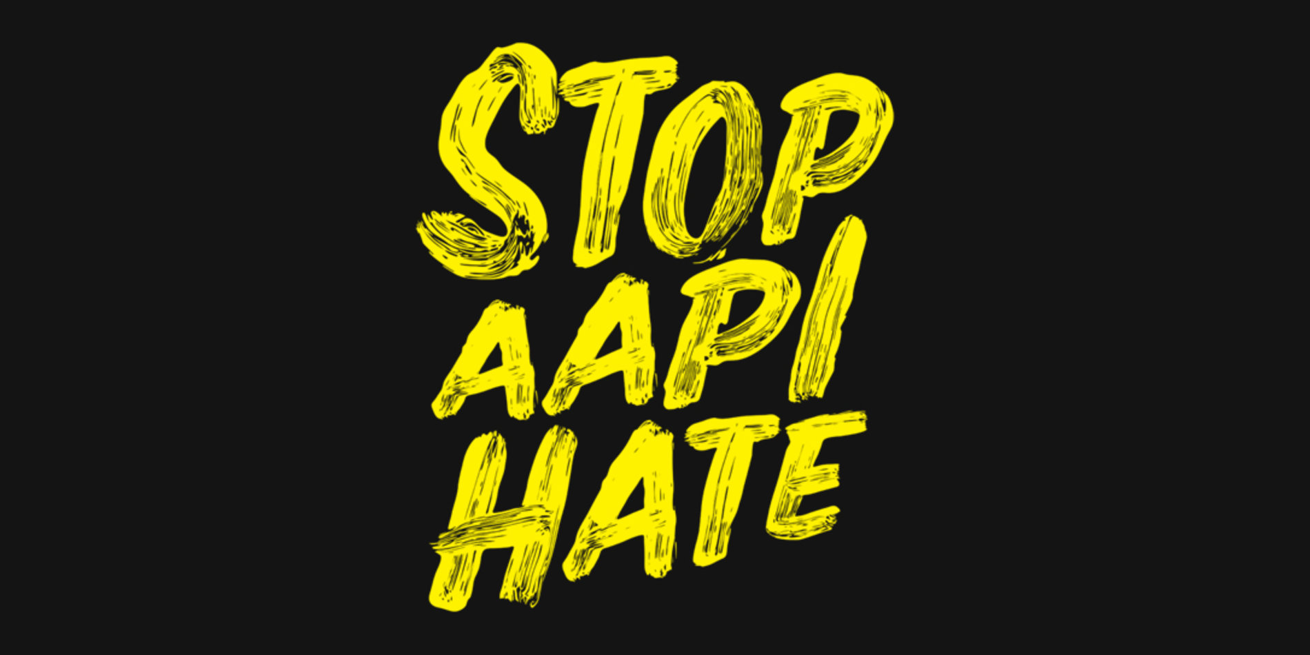 "Tile image featuring the ""Stop AAPI Hate"" logo against a black background."